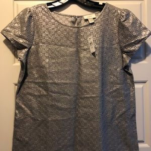 LOFT Metallic Blouse